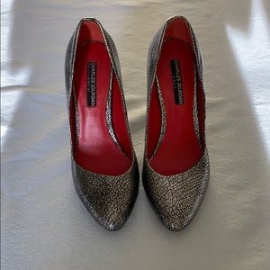 Size 6.5 silver shoes